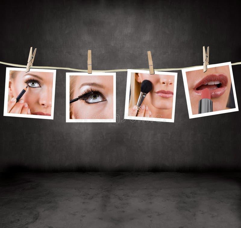 makeupbilder royaltyfria bilder
