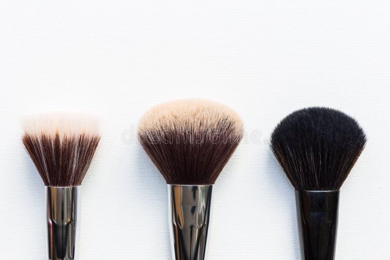 Makeupborstar royaltyfria bilder