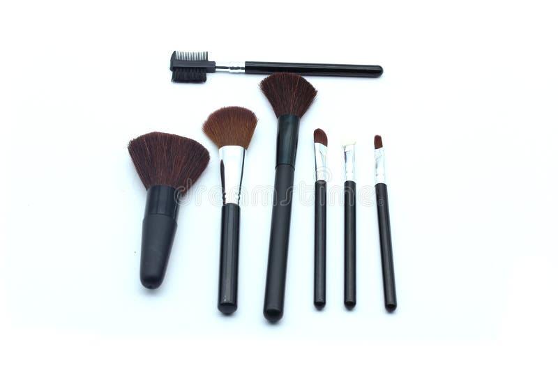 Makeupborstar arkivbilder