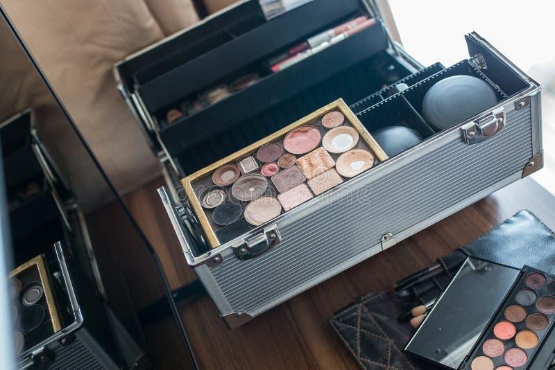 Makeupborstar, closeup fotografering för bildbyråer