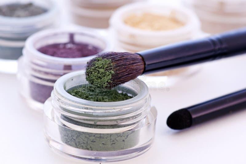Makeupborste royaltyfria bilder
