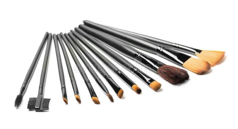 Makeupborsteuppsättning royaltyfri fotografi