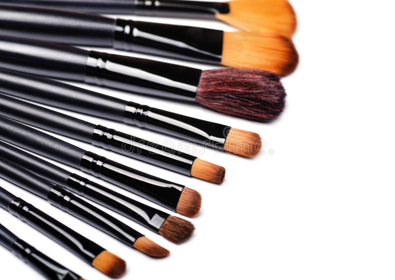 Makeupborsteuppsättning fotografering för bildbyråer
