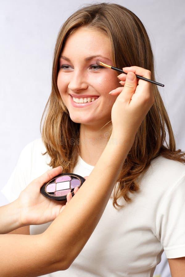 makeupförberedelser royaltyfri bild