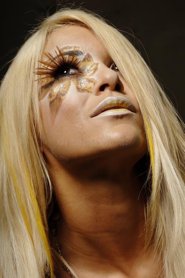 makeupkvinna arkivbild