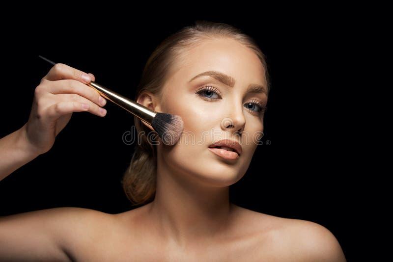 Makeupmodell royaltyfria bilder