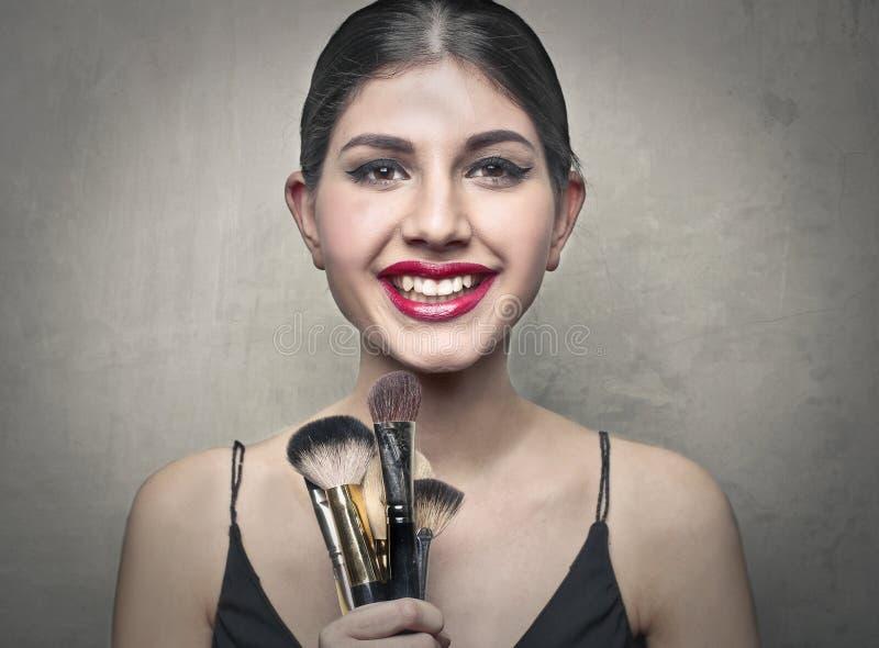 Makeupobjekt royaltyfria bilder