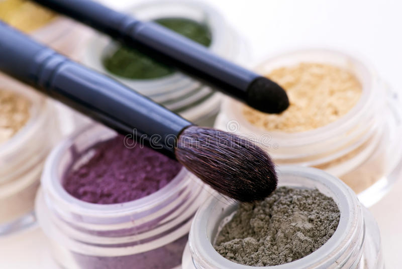 Makeupprodukter royaltyfri bild