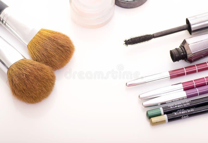 Makeupprodukter royaltyfria foton