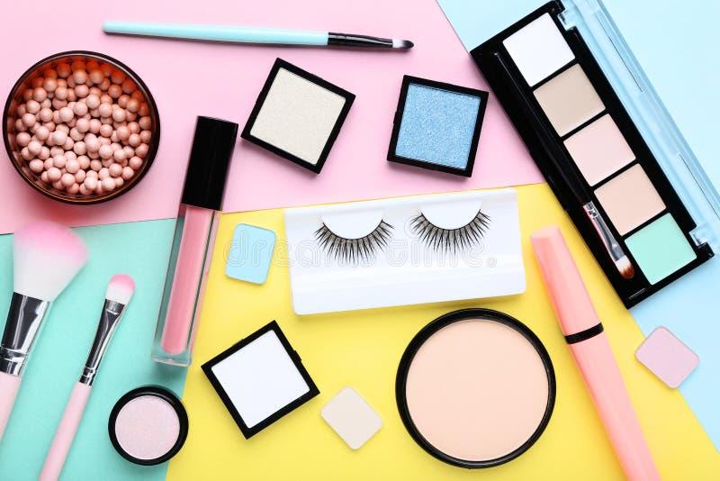 Makeupskönhetsmedel royaltyfria foton