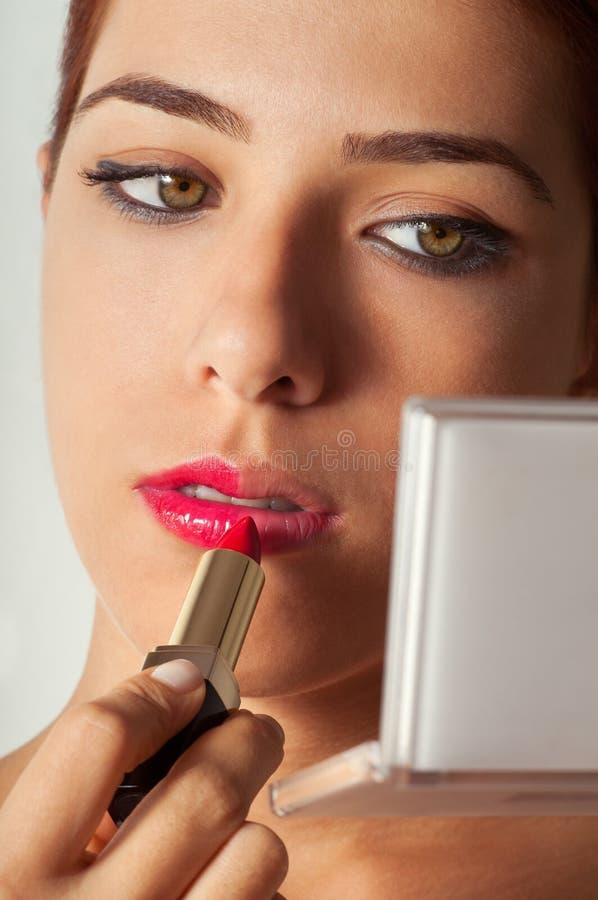 makeupspegel royaltyfri bild