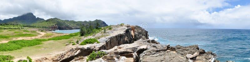 Makewehi Lithified klippor arkivbilder