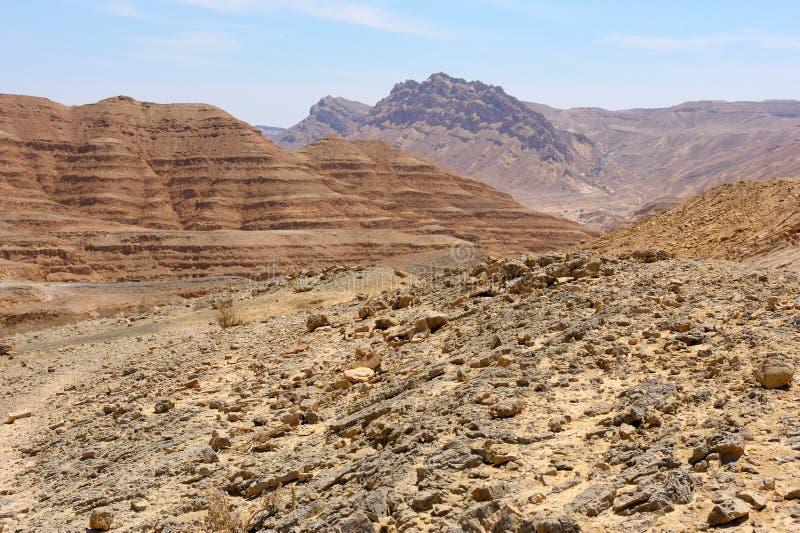 Makhtesh Ramón, montaña foto de archivo