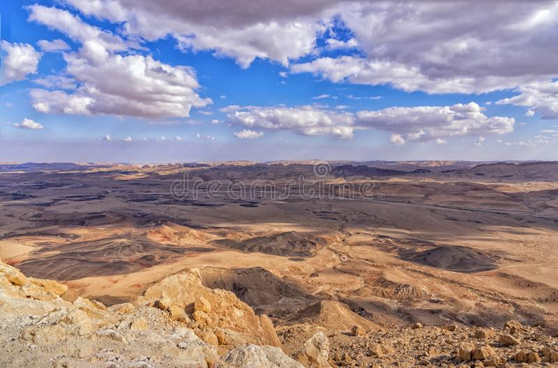 Makhtesh Ramon, Makhtesh Ramon, a geological feature of Israel`s Negev desert. Natural sightseeing stock photography