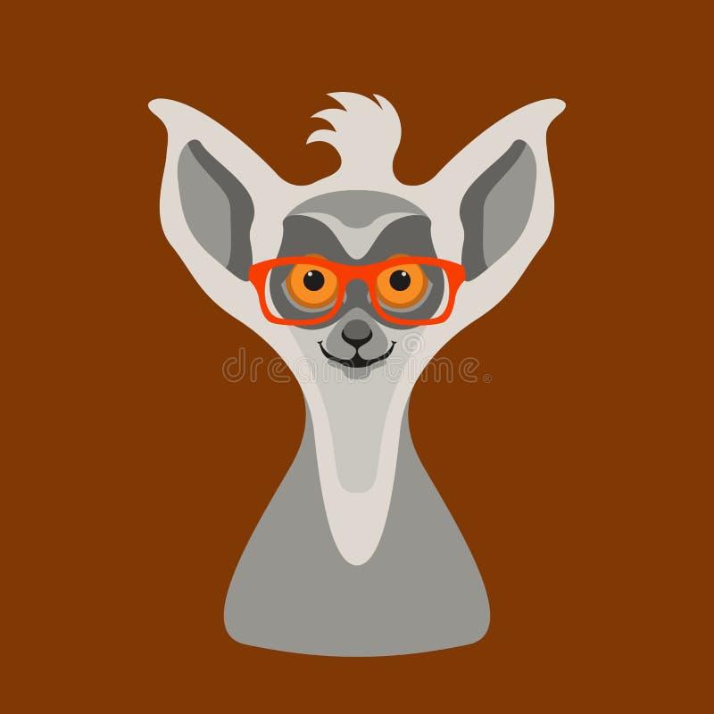 Maki in den Gläsern vector flache Artfront der Illustration lizenzfreie abbildung