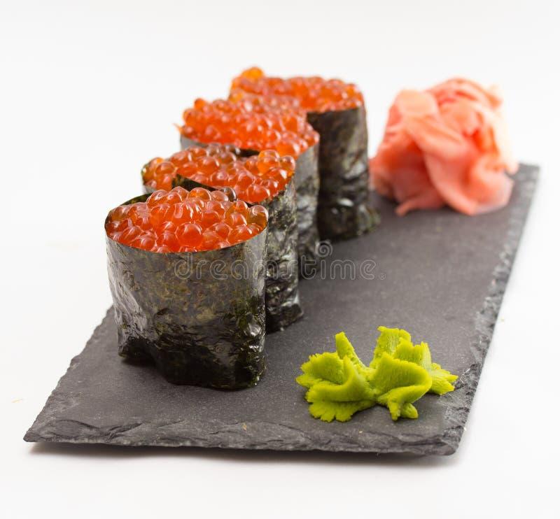 Maki do sushi de Gunkan fotos de stock royalty free