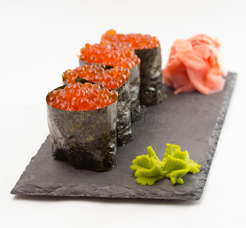 Maki do sushi de Gunkan foto de stock