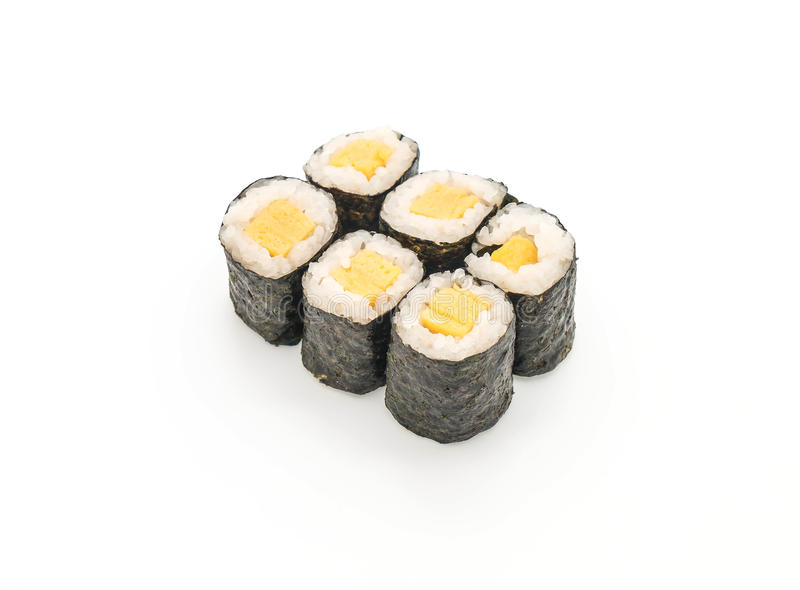 maki dulce del huevo (tamago) - estilo japonés de la comida foto de archivo libre de regalías