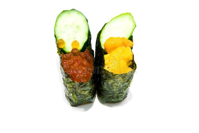 Maki Sushi Rolls stock afbeeldingen