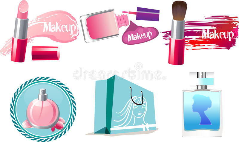 Makijaż ikony royalty ilustracja