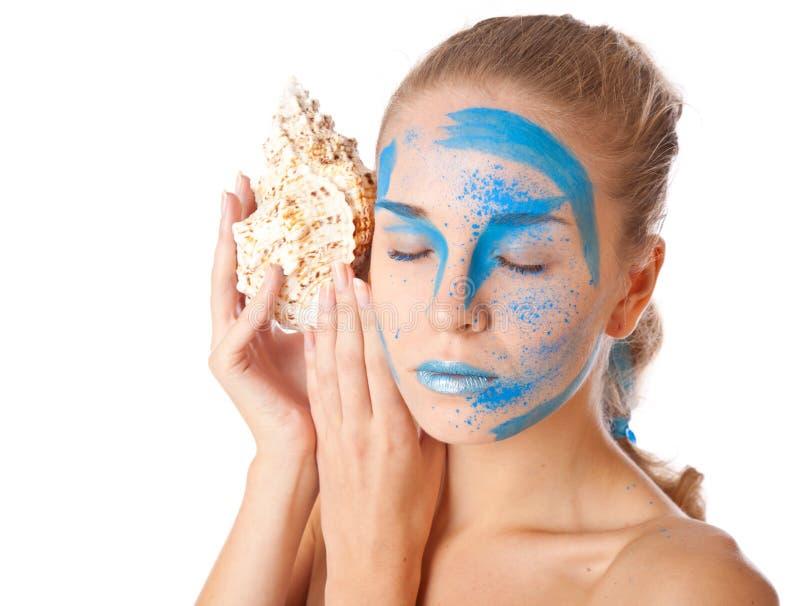 Makijażu niezwykły twarzowy model fotografia stock