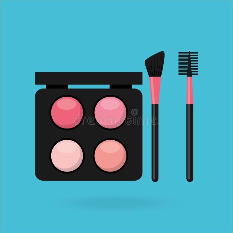 makijażu produktu projekt ilustracji