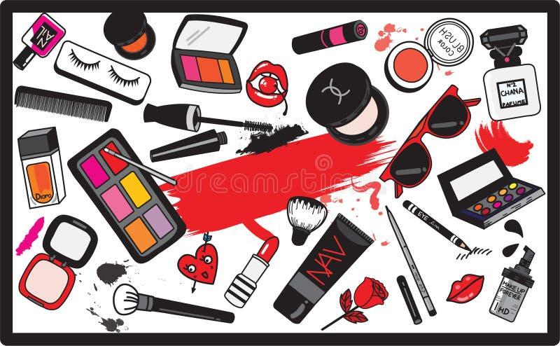 Makijażu wektoru tła ilustracja wektor