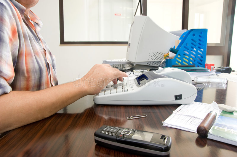 Making the accounts stock photography