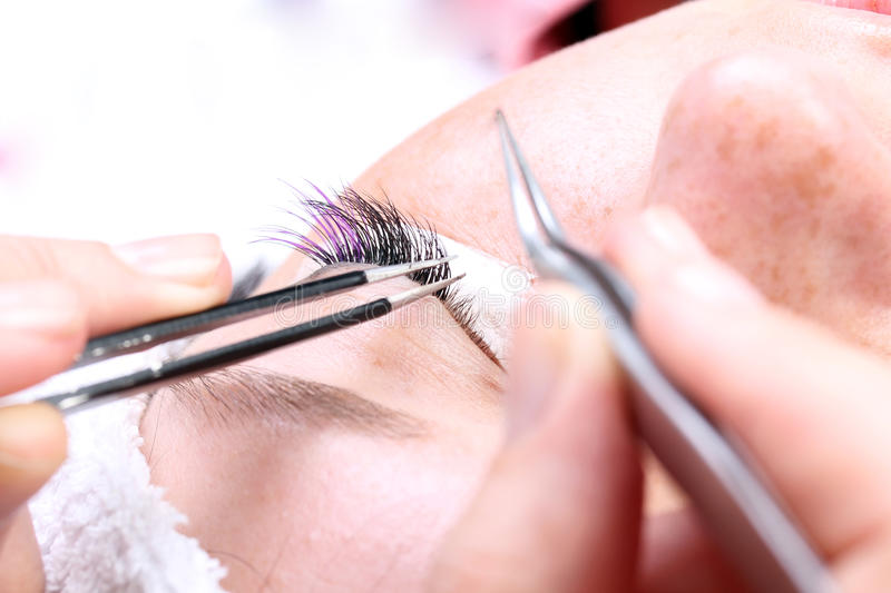 Making artificial lashes royalty free stock images