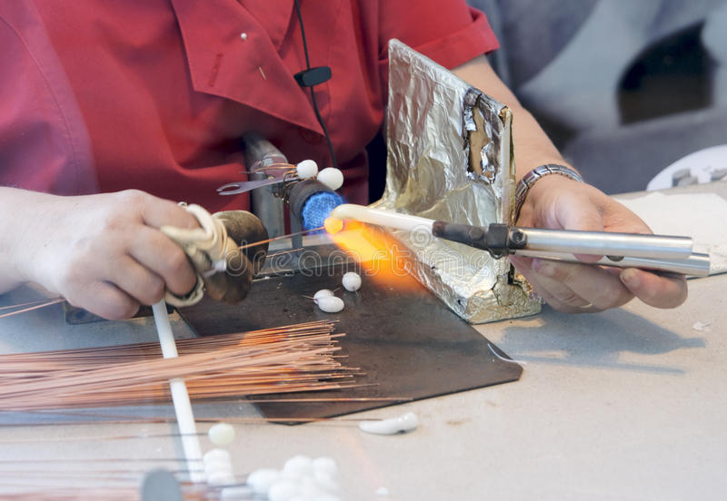 Download Making Of Artificial Pearls Stock Image - Image: 15683511