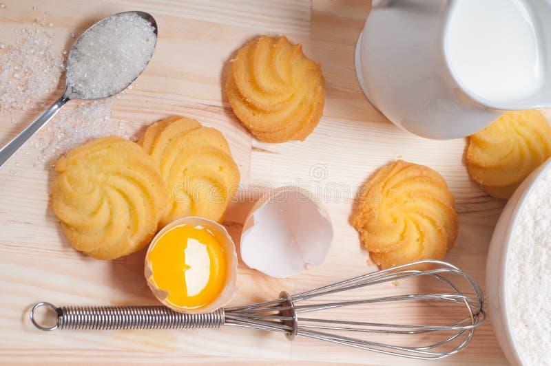 Making baking cookies royalty free stock photo