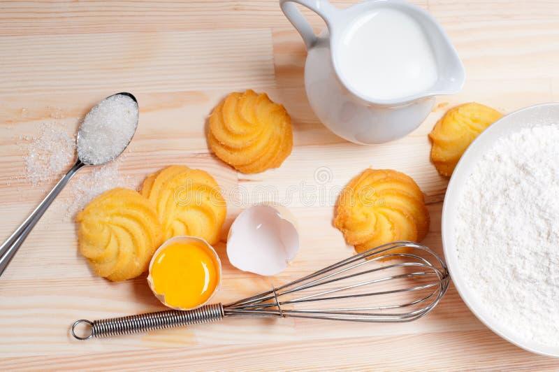 Making baking cookies royalty free stock images
