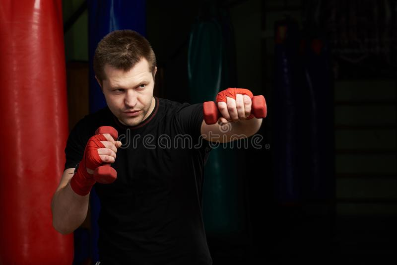 Making boxing punch stronger stock images