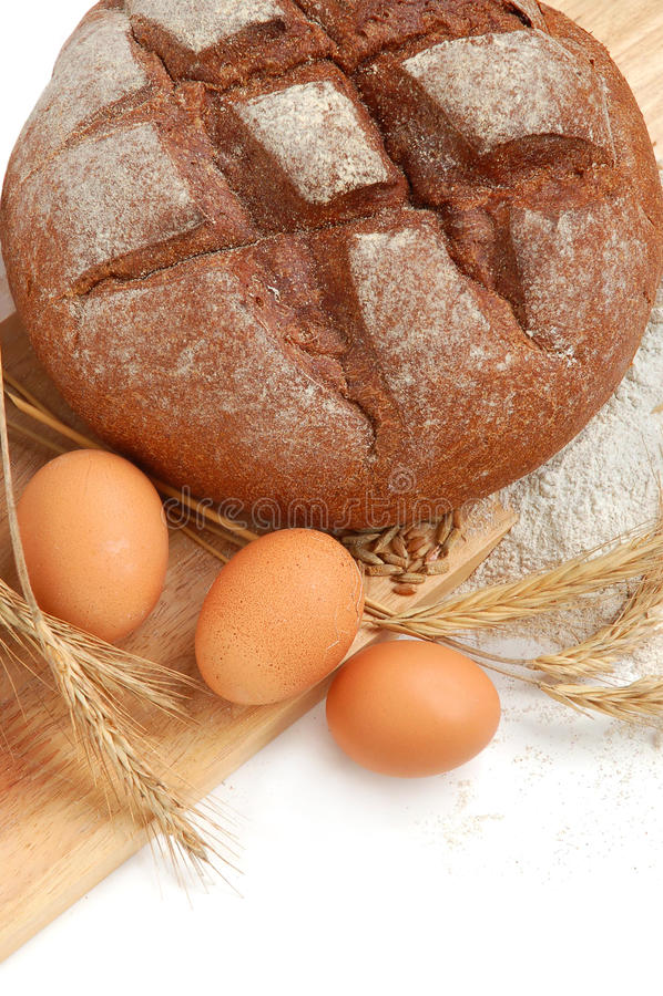 Making bread stock image