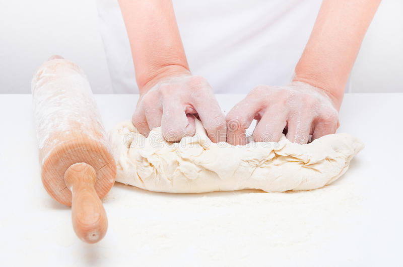 Making bread stock photos