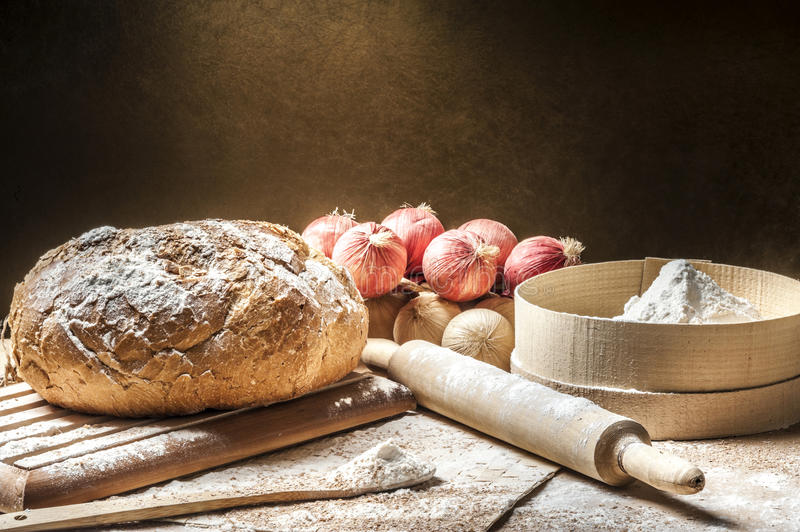 Download Making bread at home stock photo. Image of harvest, loaf - 23829558