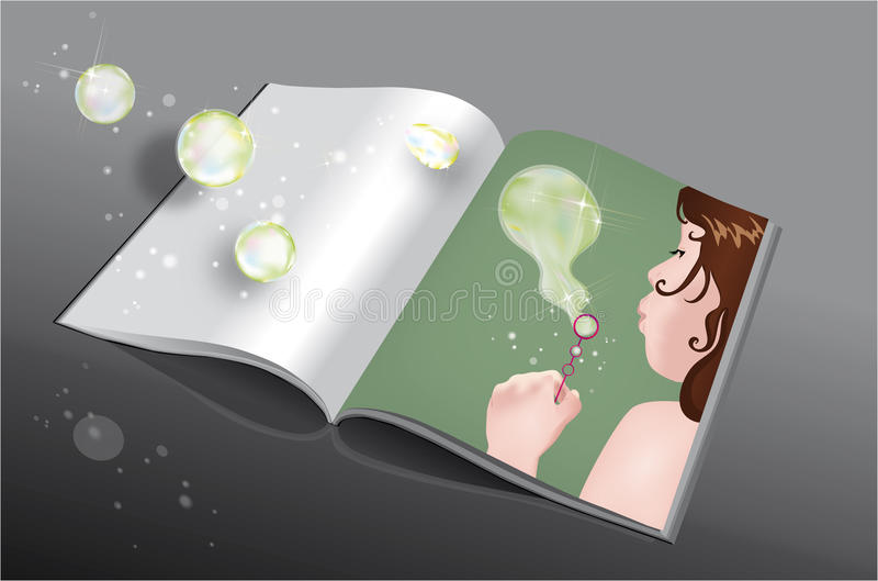 Download Making bubbles book stock image. Image of green, childhood - 25812753