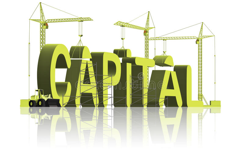 Making or build capital be rich gain fortune royalty free illustration