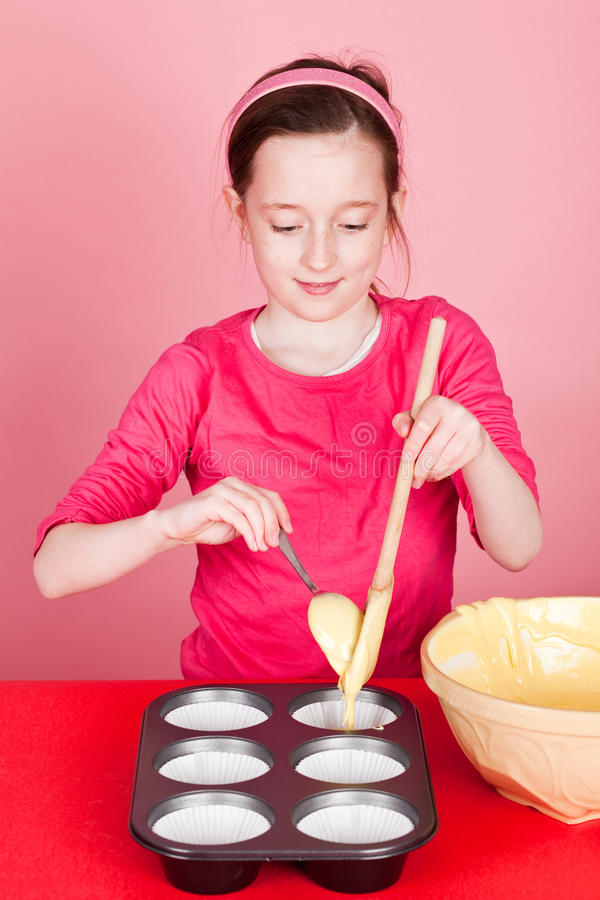 Making a cake royalty free stock images