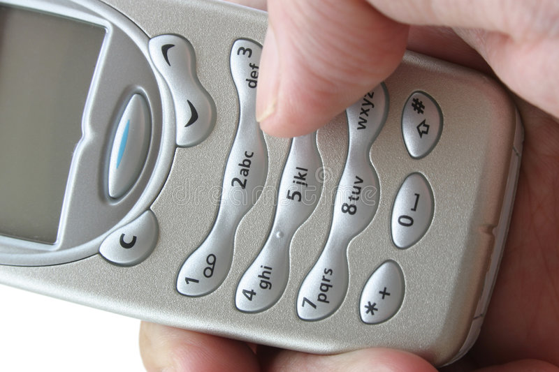 Making a call stock photography
