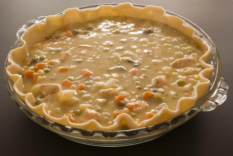 Making Chicken Pot Pie Stock Image