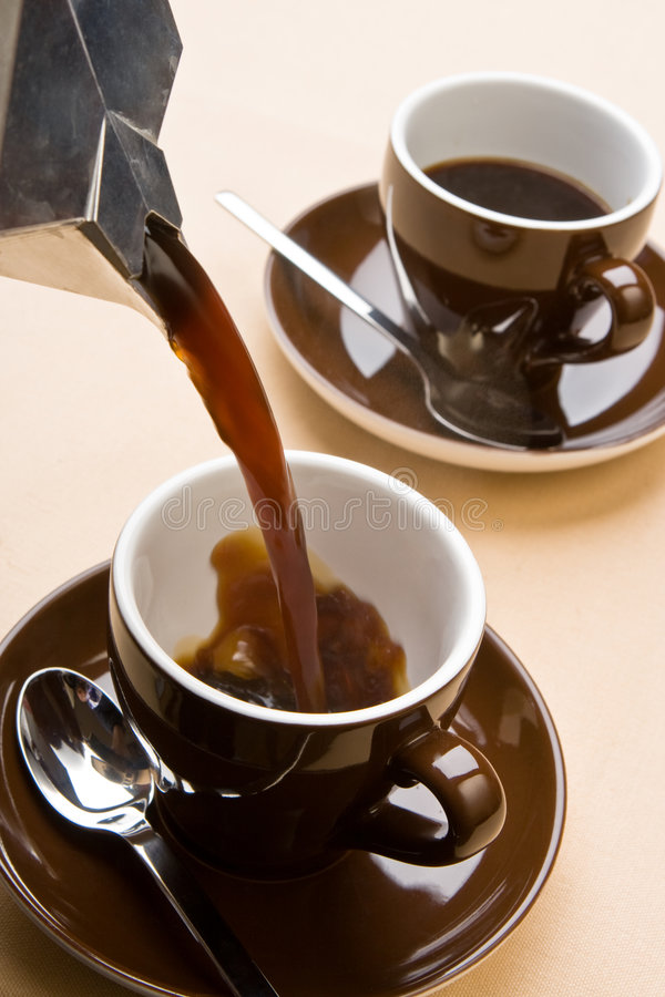 Making A Coffee Stock Image