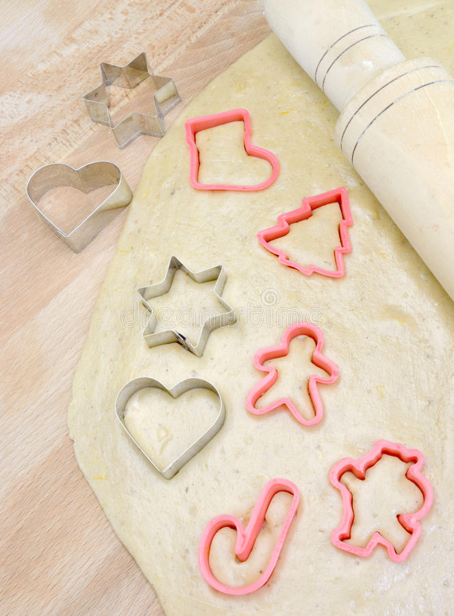 Making cookies for Christmas royalty free stock photos
