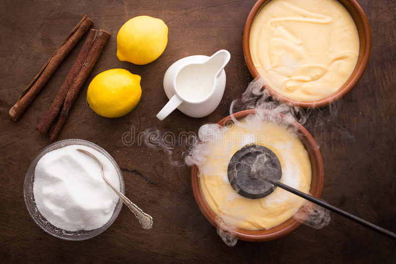 Download Making Creme Brulee Traditionally Stock Photo - Image: 33167992