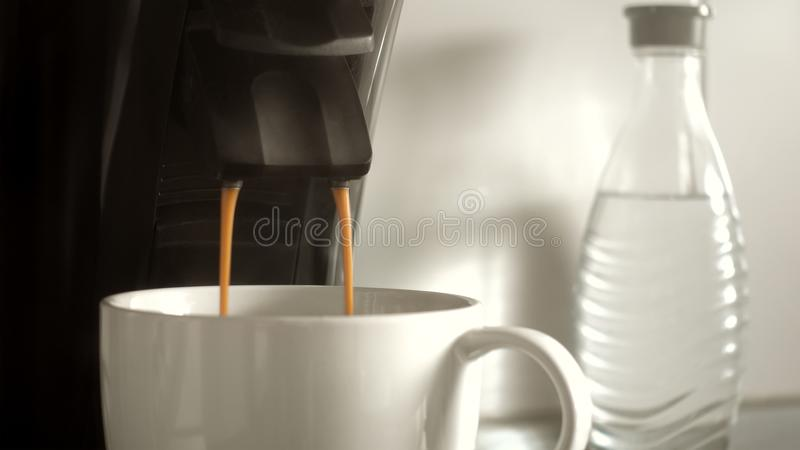 making a cup of coffee royalty free stock photography