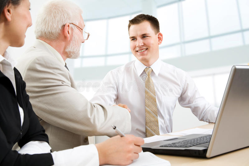 Making A Deal Royalty Free Stock Image