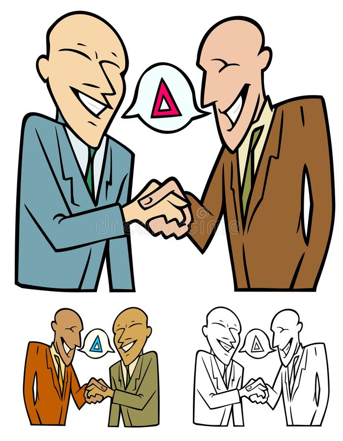 Making A Deal Stock Vector Illustration Of Shaking Discourse