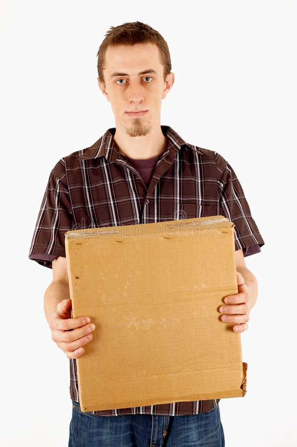 Making a delivery stock photo