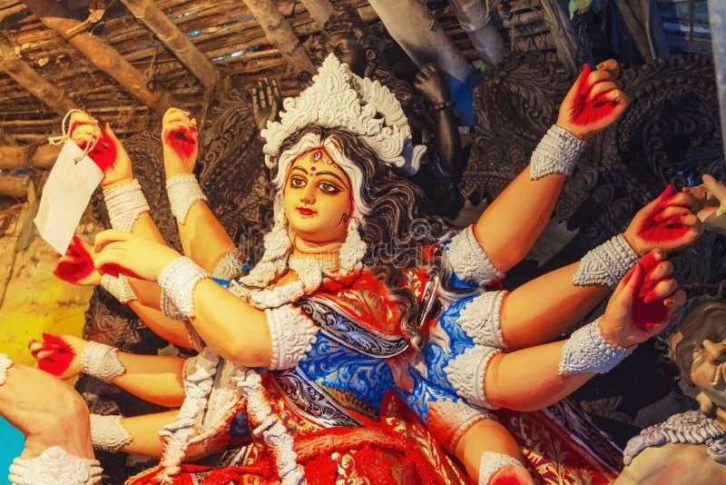 Making Of Durga Idol At Kumortuli.  stock image