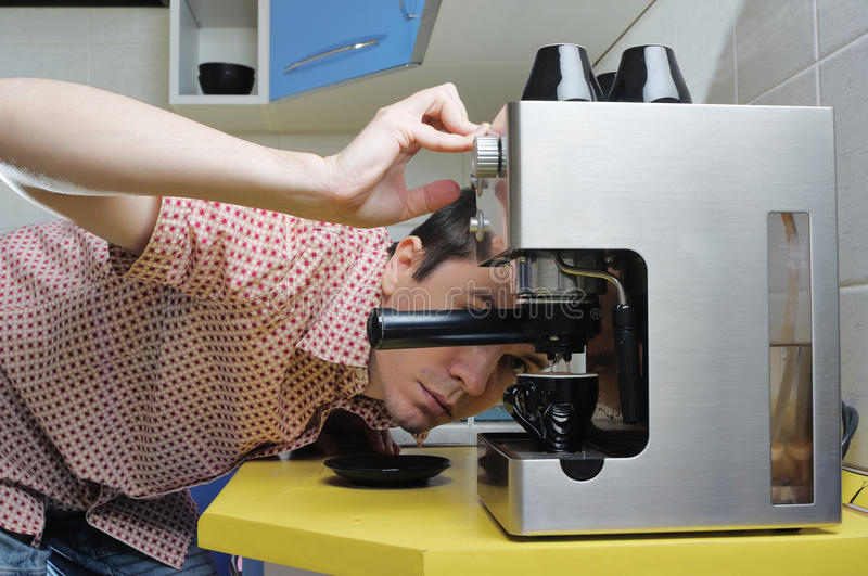 Download Making Espresso. Stock Photography - Image: 13313122